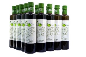 Caja con 12 botellas de Cristal de 500 ml de AOVE de Casas Rurales EL OLIVAR - YESTE