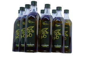 Botellas de 1 litro de Aceite de Oliva Virgen Extra de Casas Rurales EL OLIVAR - YESTE