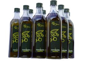 12 botellas de 1 litro de AOVE de Casas Rurales EL OLIVAR - YESTE